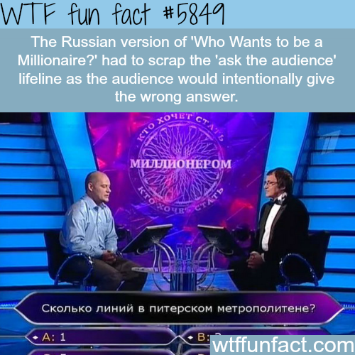 Who Wants to be a Millionaire? - WTF fun facts