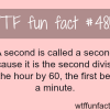 why a second is called a second wtf fun facts