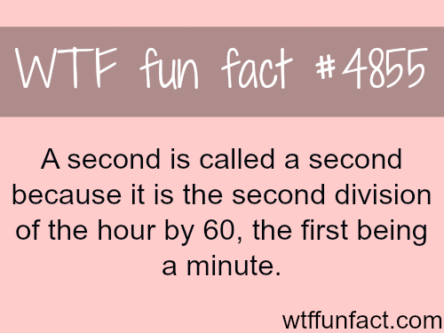 Why a second is called a second - WTF fun facts