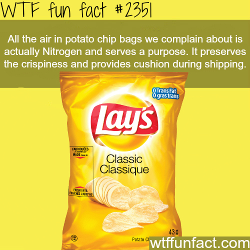 Why do potato chip bags have a lot of air? - WTF fun facts