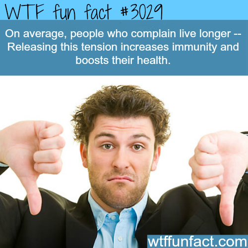 People who complain -WTF fun facts