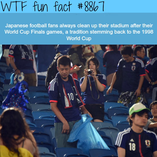 Why Japanese football fans are the best - WTF fun facts