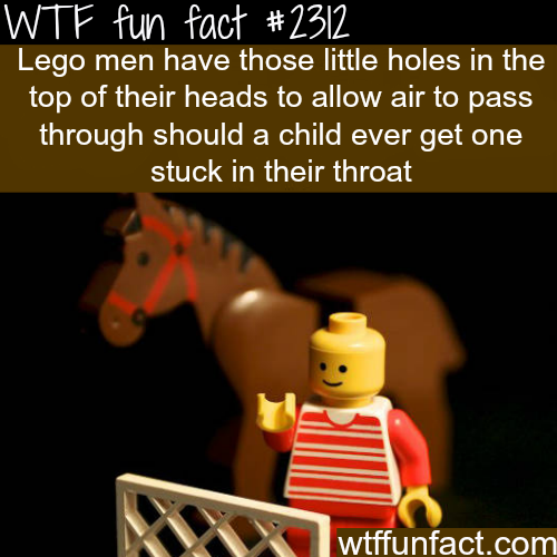 Why lego men have holes in their head - WTF fun facts