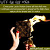 why louis vuitton burns their unsold merchandise