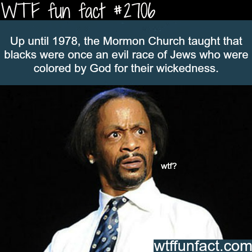 Why Mormons hate black people? - WTF fun facts