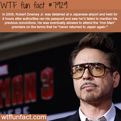 Why Robert Downey Jr. is banned from Japan - WTF fun facts
