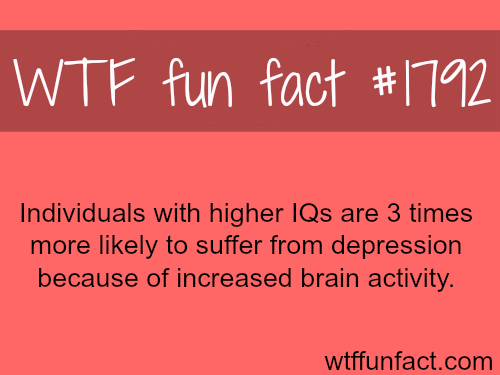 Why Smart people are more depressed - WTF fun facts