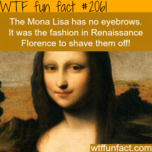 Why the Mona Lisa has no eyebrows - WTF fun facts