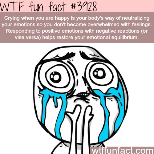 Why we cry when we are really happy - WTF fun facts