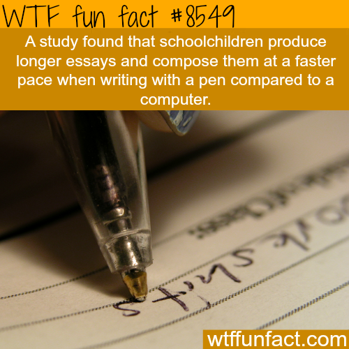 Why writing in pen is better for you than writing on a computer - WTF fun facts
