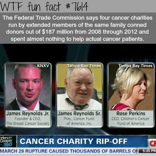 Why you should do research about charities you donate to - WTF fun facts