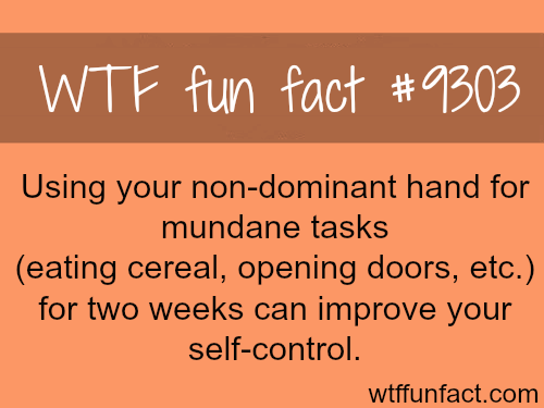 Why you should use non-dominant hand - WTF fun fact