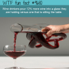 wine drinkers pour 12 more wine into a glass they