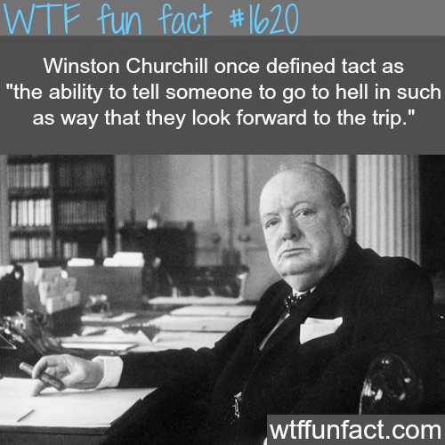 Winston Churchill facts; tact - WTF fun facts