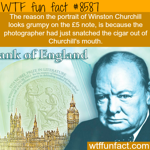 Winston Churchill grumpy photo- WTF fun facts