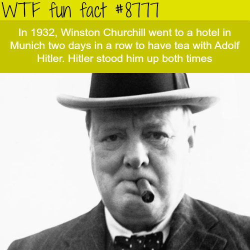 Winston Churchill wanted to have tea with Hitler… - WTF fun facts
