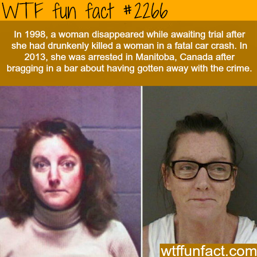Woman tried to escape trial - WTF fun facts