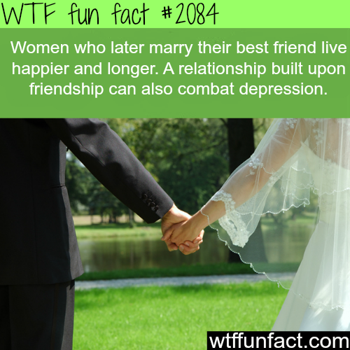 Women who marry their best friend live happier - WTF fun facts