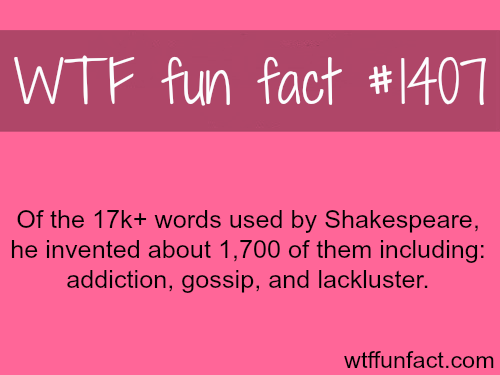 words created byShakespeare