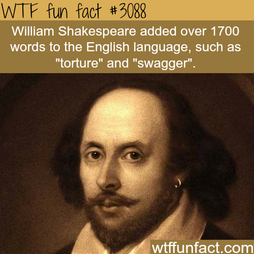 Words created by William Shakespeare -  WTF fun facts