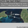 worlds shortest commercial flight wtf fun facts