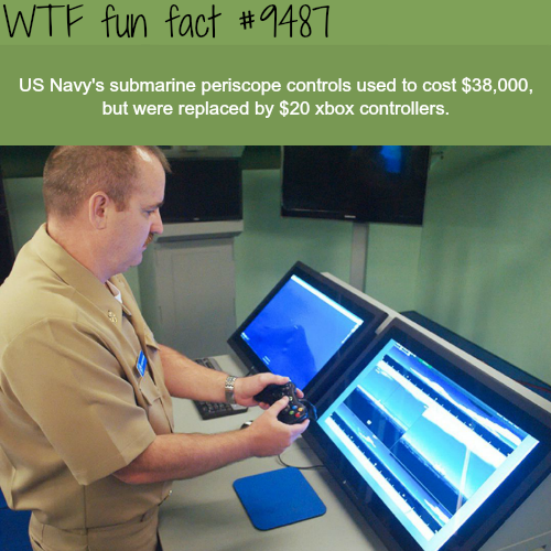 Xbox Controllers used in Submarines - WTF fun fact