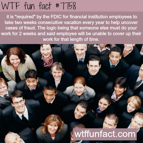 """You are """"required"""" to take two weeks vacation if you work in finance…- WTF fun fact"""