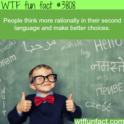 You make better decisions when thinking with another language - WTF fun facts