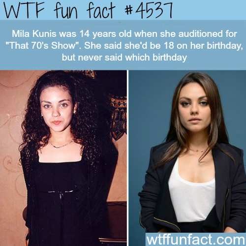 Young Mila Kunis -   WTF fun facts