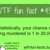 your chance of being murdered