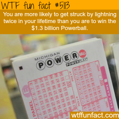 Your chances of winning the Powerball - WTF fun facts