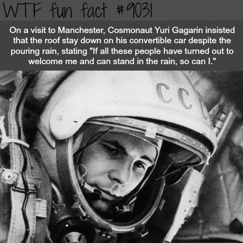 Yuri Gagarin - WTF fun facts