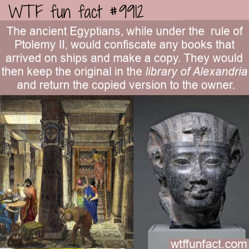 wtf fun fact ancient egyptians stole books