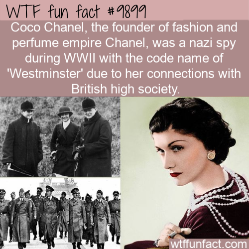 wtf fun fact coco chanel was a nazi spy
