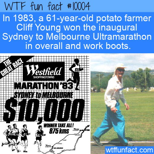 WTF Fun Fact - Cliff Young Ultramarathon