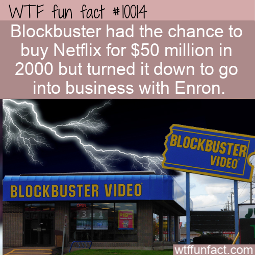 WTF Fun Fact - Passed Up The Chance to Buy Netflix!