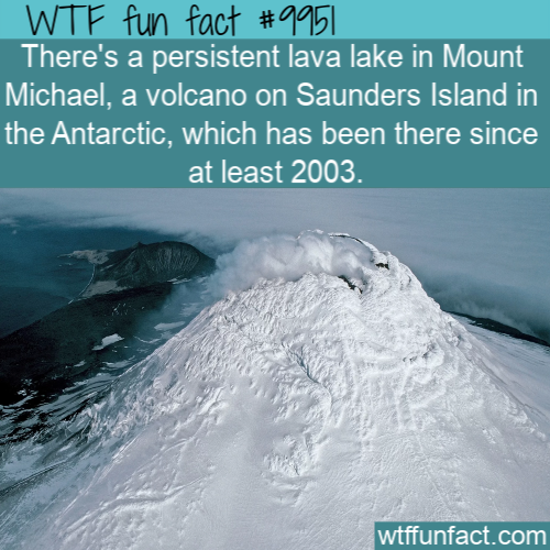 fun fact lava lake on antartic island