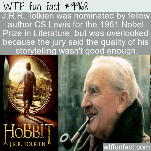wtf fun fact tolkien poor storyteller