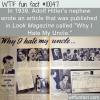 WTF Fun Fact – Hitler's Nephew Knew