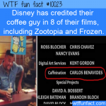 WTF Fun Fact - Credits For Caffeination