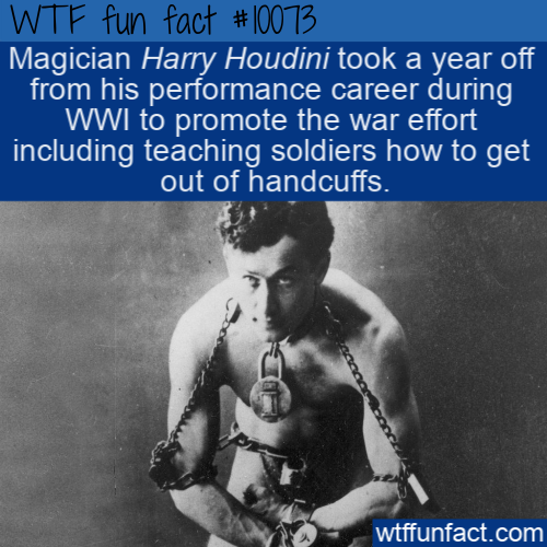 WTF Fun Fact - Helpful Houdini