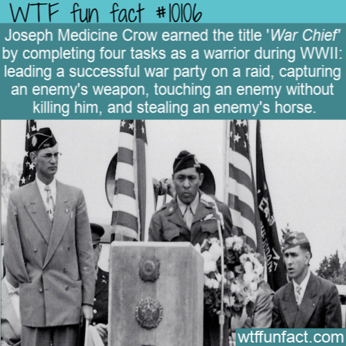 WTF Fun Fact - Joseph Medicine Crow