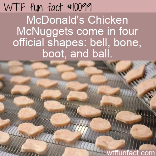WTF Fun Fact - McNuggets Official Shapes