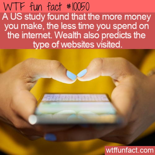 WTF Fun Fact - More Money Keeps Away From Internet(1)
