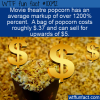 WTF Fun Fact – Popcorn Markup