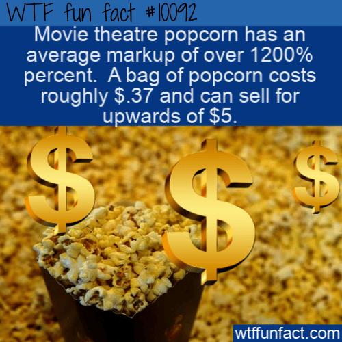 WTF Fun Fact - Movie Theatre Popcorn