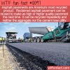 WTF Fun Fact – Recycled Asphalt