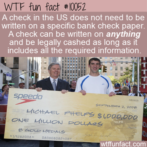 WTF Fun Fact - US Checks
