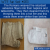 WTF Fun Fact – Asbestos Napkins