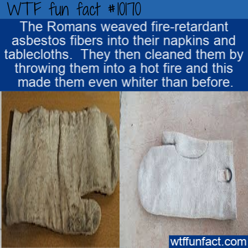 WTF Fun Fact - Asbestos Napkins